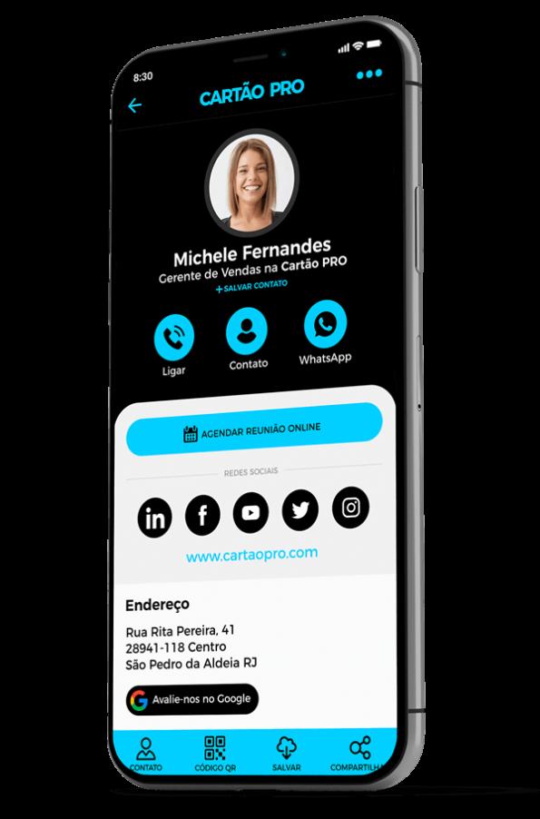 Cartão de Visita Digital com NFC