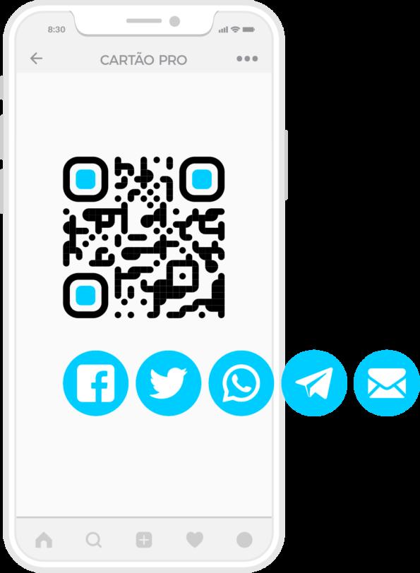 cartão de visita NFC